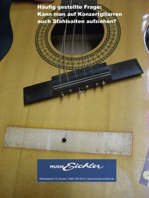 Stahlsaiten auf Konzertgitarre 3