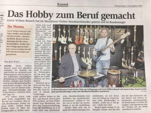 Zeitungsartikel - HNA 9. November 2017